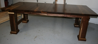 Solid walnut Frank Lloyd Wright-inspired table